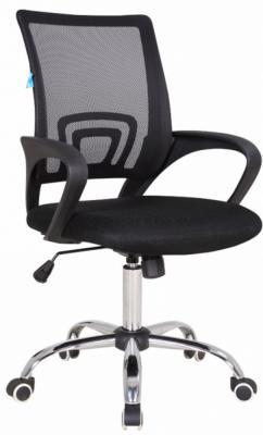 Кресло Бюрократ CH-695SL/BLACK спинка сетка черный TW-01 сиденье черный TW-11 крестовина хром кресло для офиса бюрократ ch 799sl dg tw 12 спинка сетка темно серый сиденье серый tw 12 крестовина хром