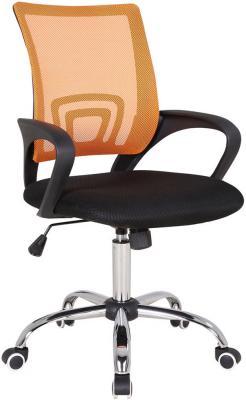 Кресло Бюрократ CH-695SL/OR/BLACK спинка сетка оранжевый TW-38-3 сиденье черный TW-11 крестовина хром кресло для офиса бюрократ ch 799sl dg tw 12 спинка сетка темно серый сиденье серый tw 12 крестовина хром