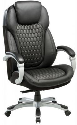 Кресло руководителя Бюрократ T-9917/BLACK черный рец.кожа/кожзам (пластик серебро) цена