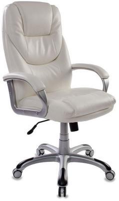 Кресло руководителя Бюрократ T-9905S/WHITE белый искусственная кожа (пластик серебро) кресло для руководителя бюрократ t 9999 brown