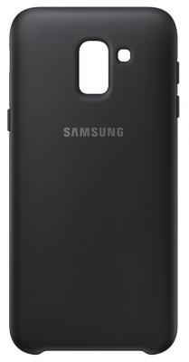 Чехол (клип-кейс) Samsung для Samsung Galaxy J6 (2018) Dual Layer Cover черный (EF-PJ600CBEGRU) клип кейс samsung galaxy j4 dual layer cover gold ef pj400cfegru