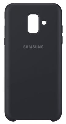 Чехол (клип-кейс) Samsung для Samsung Galaxy A6 (2018) Dual Layer Cover черный (EF-PA600CBEGRU) чехол клип кейс samsung для samsung galaxy j2 2018 dual layer cove белый ef pj250cwegru