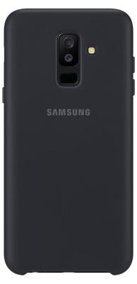 Чехол (клип-кейс) Samsung для Samsung Galaxy A6+ (2018) Dual Layer Cover черный (EF-PA605CBEGRU) телефон samsung galaxy a6 2018 черный