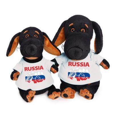 Купить Мягкая игрушка пёс BUDI BASA Ваксон в футболке с принтом пластик текстиль искусственный мех черный белый 25 см Vaks25-020, белый, черный, искусственный мех, пластик, текстиль, Животные