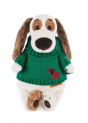 Купить Мягкая игрушка BUDI BASA Bart27-007 Бартоломей в зеленом свитере, белый, коричневый, зеленый, 27 см, искусственный мех, пластик, текстиль, Животные