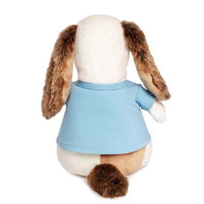 Купить Мягкая игрушка пёс BUDI BASA Бартоломей в футболке с совой пластик текстиль искусственный мех белый синий коричневый 27 см Bart27-010, белый, коричневый, синий, искусственный мех, пластик, текстиль, Животные