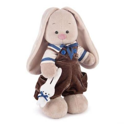 Купить Мягкая игрушка заяц BUDI BASA Зайка Ми Бархатный шоколад пластик текстиль искусственный мех бежевый коричневый 32 см StM-220, коричневый, бежевый, искусственный мех, пластик, текстиль, Животные