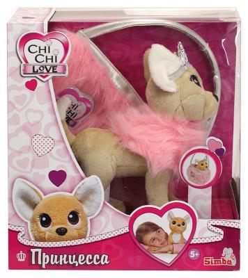 Мягкая игрушка CHI CHI LOVE 5893126 Собачка Принцесса с пушистой сумкой