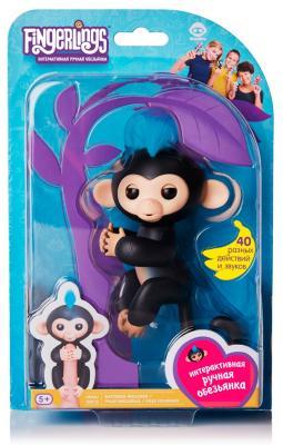 Интерактивная игрушка Fingerlings Обезьянка Финн от 5 лет интерактивная игрушка обезьянка wowwee fingerlings финн пластик черный 12 см 3701a