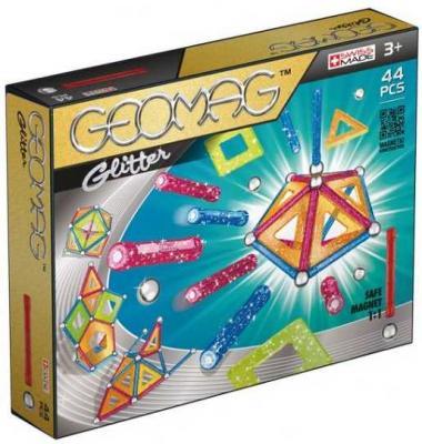 Купить Магнитный конструктор Geomag Glitter 44 элемента 532, Магнитные конструкторы для детей
