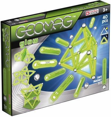Магнитный конструктор Geomag Glow 40 элементов 330 конструктор zoob glow creepy creatures 65 элементов 14003