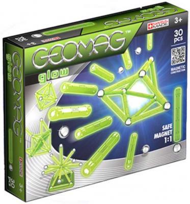 Магнитный конструктор Geomag Glow 30 элементов 335 конструктор zoob glow creepy creatures 65 элементов 14003