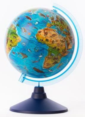 Глобус Globen Зоогеографический globen глобус земли физический диаметр 210 мм ке012100176