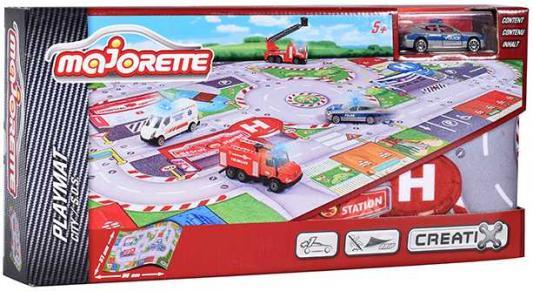 Игровой набор MAJORETTE 2056411 Коврик Creatix SOS, 1 машинка majorette majorette питстоп creatix 1 авто