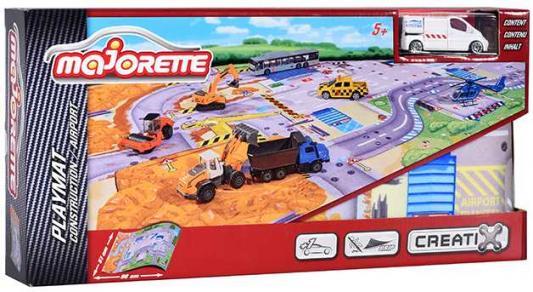 Игровой набор MAJORETTE 2056412 Коврик Creatix Construction, 1 машинка
