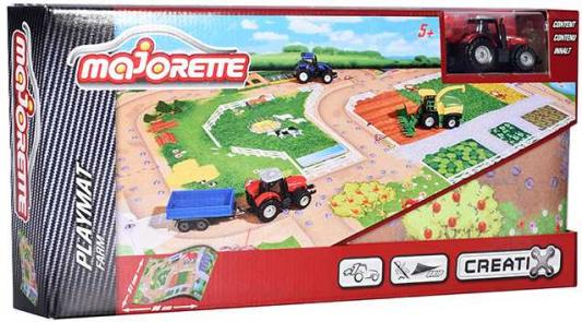 Игровой набор MAJORETTE 2056413 Коврик Creatix Farm, 1 машинка majorette majorette питстоп creatix 1 авто