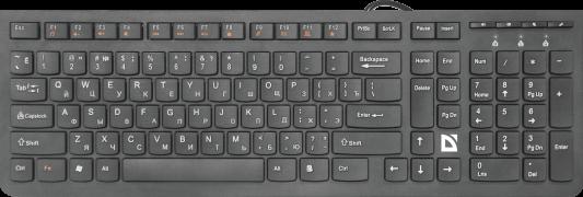 Клавиатура проводная Defender SM-530 USB черный штатив defender sm 02 29403