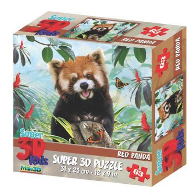 Стерео пазл PRIME 3D 13550 Красная панда стерео пазл 500 элементов prime 3d экзотическая живая природа