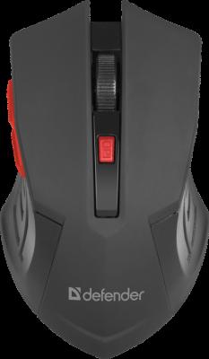 Defender Беспроводная оптическая мышь Accura MM-275 красный,6 кнопок, 800-1600 dpi