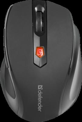 Defender Беспроводная оптическая мышь Ultra MM-315 черный,6 кнопок, 800-1600 dpi