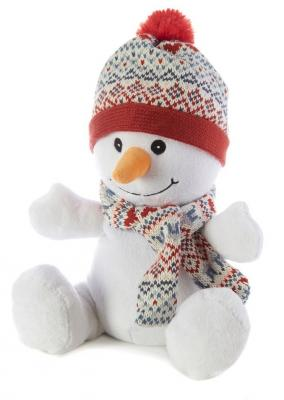 Грелка снеговик Warmies Снеговик полиэстер полифилл семена просо бутоны лаванды 24 см warmies тапочки грелки бежевые 35 40