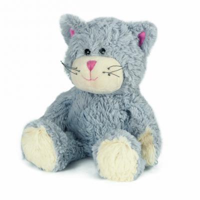 Мягкая игрушка-грелка кот Warmies Кот синий полиэстер полифилл синий грелки warmies cozy plush игрушка грелка полярный мишка