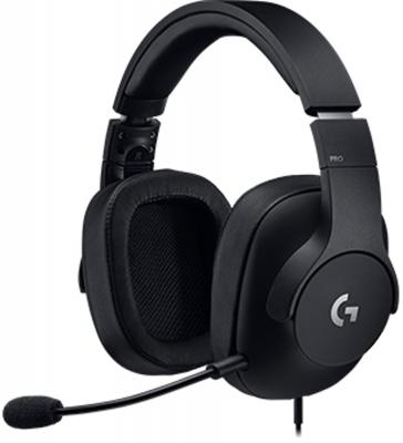 Игровая гарнитура проводная Logitech G PRO черный 981-000721 игровая гарнитура проводная logitech g pro черный 981 000721