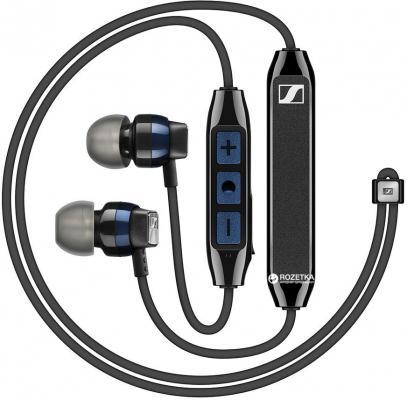 """Наушники беспроводные Sennheiser/ Bluetooth 4.2 NFC внутриканальные 17-21000Гц 112дБ микрофон, до 6 часов работы, чехол, сменные амбюшуры, держатель """"воротничок"""""""