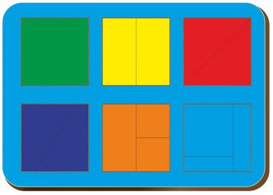 Купить Рамка-вкладыш WOODLAND 064301 Сложи квадрат 6 квадратов, уровень 1, Развивающие игрушки из дерева
