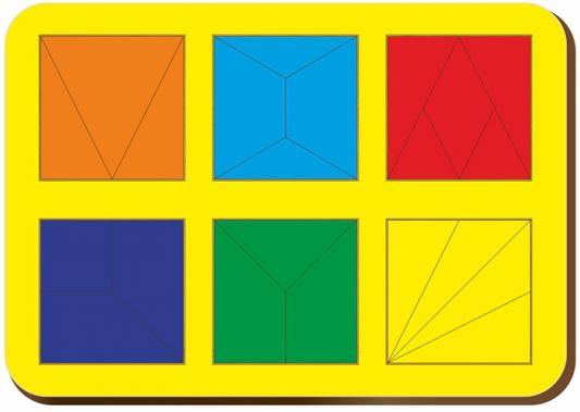Купить Рамка-вкладыш WOODLAND 064302 Сложи квадрат 6 квадратов, уровень 2, Развивающие игрушки из дерева