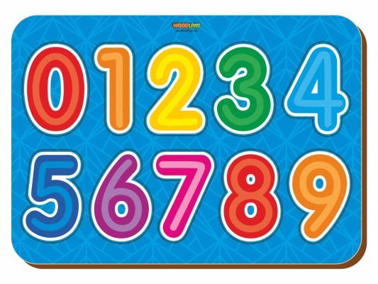 Рамка-вкладыш WOODLAND 091105 Изучаем цифры 2 андреева и сост изучаем цифры