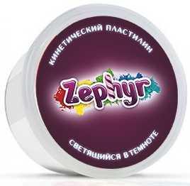 Кинетический пластилин ZEPHYR Белая (светящаяся в темноте) 1 цвет 00-00000825 14 223 светящаяся в темноте картина скорпион