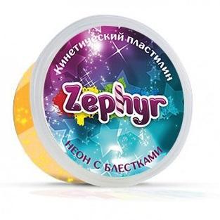 Купить Масса для лепки ZEPHYR 00-00000864 Оранжевая неоновая с блёстками, Тесто и масса для лепки