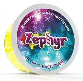 Купить Масса для лепки ZEPHYR 00-00000866 Жёлтая неоновая с блёстками, Тесто и масса для лепки