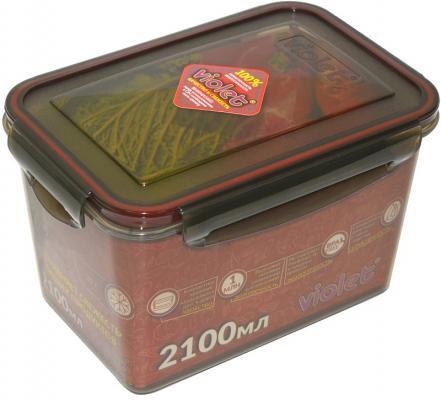 цена на Контейнер Violet 093/211 дымчатый 2100 мл