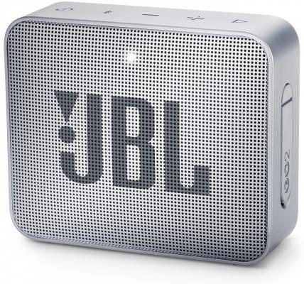 Динамик JBL Портативная акустическая система JBL GO 2 серый тест jbl