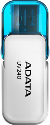 A-DATA Flash Drive 8Gb UV240 AUV240-8G-RWH {USB2.0, White} цена и фото
