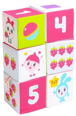 Кубики МЯКИШИ Малышарики Учим Формы, Цвет  Счёт от 1 года 6 шт
