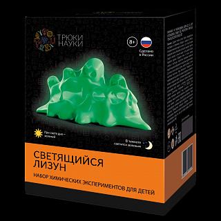 Набор для опытов Трюки науки Светящийся лизун(зеленый/зеленый) набор опытов dream makers лизун светящийся