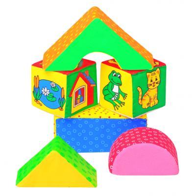 Кубики МЯКИШИ Домики от 2 лет 5 шт 054 кубики мякиши животные 2 236