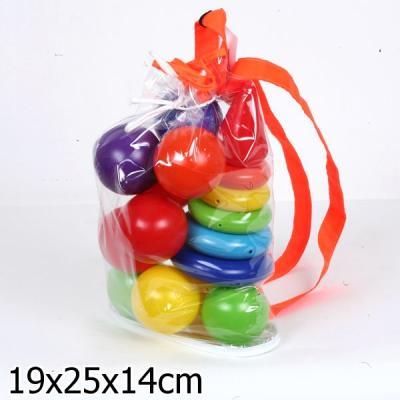 НАБОР РАДУГА МАКСИ (ПИРАМИДА+МЯЧИ) В РЮКЗАКЕ в кор.14наб пирамида краснокамская игрушка радуга 16 элементов пир 04