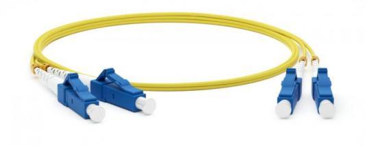 Hyperline FC-S2-9-LC/UR-LC/UR-H-2M-LSZH-YL Патч-корд волоконно-оптический (шнур) SM 9/125 (OS2), LC/UPC-LC/UPC, simplex, LSZH, 2 м l com sfodbiflc 01 9 125 single mode fiber optic lc flex boot assembly 1 0m