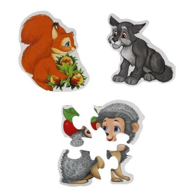 Макси-пазл УМКА Лесные животные 6 деталей шнуровка умка лесные животные