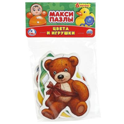 Купить Пазл 6 деталей УМКА ЦВЕТА И ИГРУШКИ 4690590141267, Пазлы для малышей