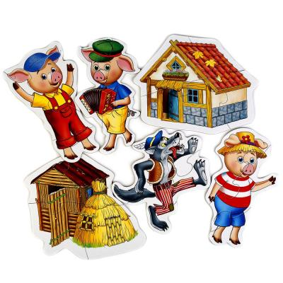 Купить Пазл 6 деталей УМКА ТРИ ПОРОСЕНКА 4690590141298, Пазлы для малышей