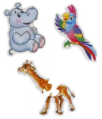 Макси-пазл УМКА Дикие животные 6 деталей макси раскраски дикие животные