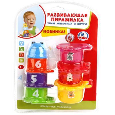 Купить РАЗВИВАЮЩАЯ ПИРАМИДКА УМКА МИШКА В АССОРТ. 120-4 НА БЛИСТЕРЕ (РУСС. УП.) в кор.2*30шт, Пирамидки для малышей