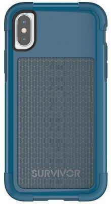 купить Накладка Griffin Survivor Fit для iPhone X синий голубой TA43982 по цене 850 рублей
