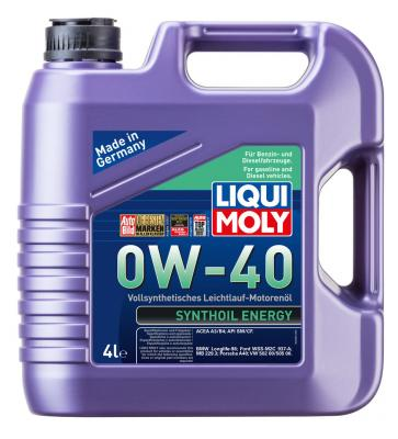Cинтетическое моторное масло LiquiMoly Synthoil Energy 0W40 4 л 7536 cинтетическое моторное масло liquimoly synthoil high tech 5w30 1 л 9075