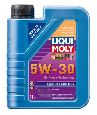 НС-синтетическое моторное масло LiquiMoly Leichtlauf HC 7 5W30 1 л 8541 редукторное масло universal 75w 90 синтетическое 1 л